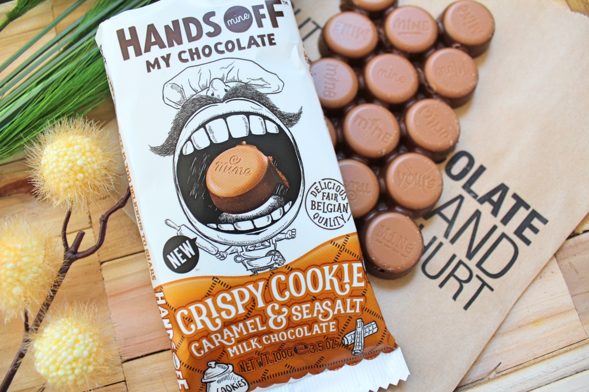 hands off crispy cookie caramel & seasalt