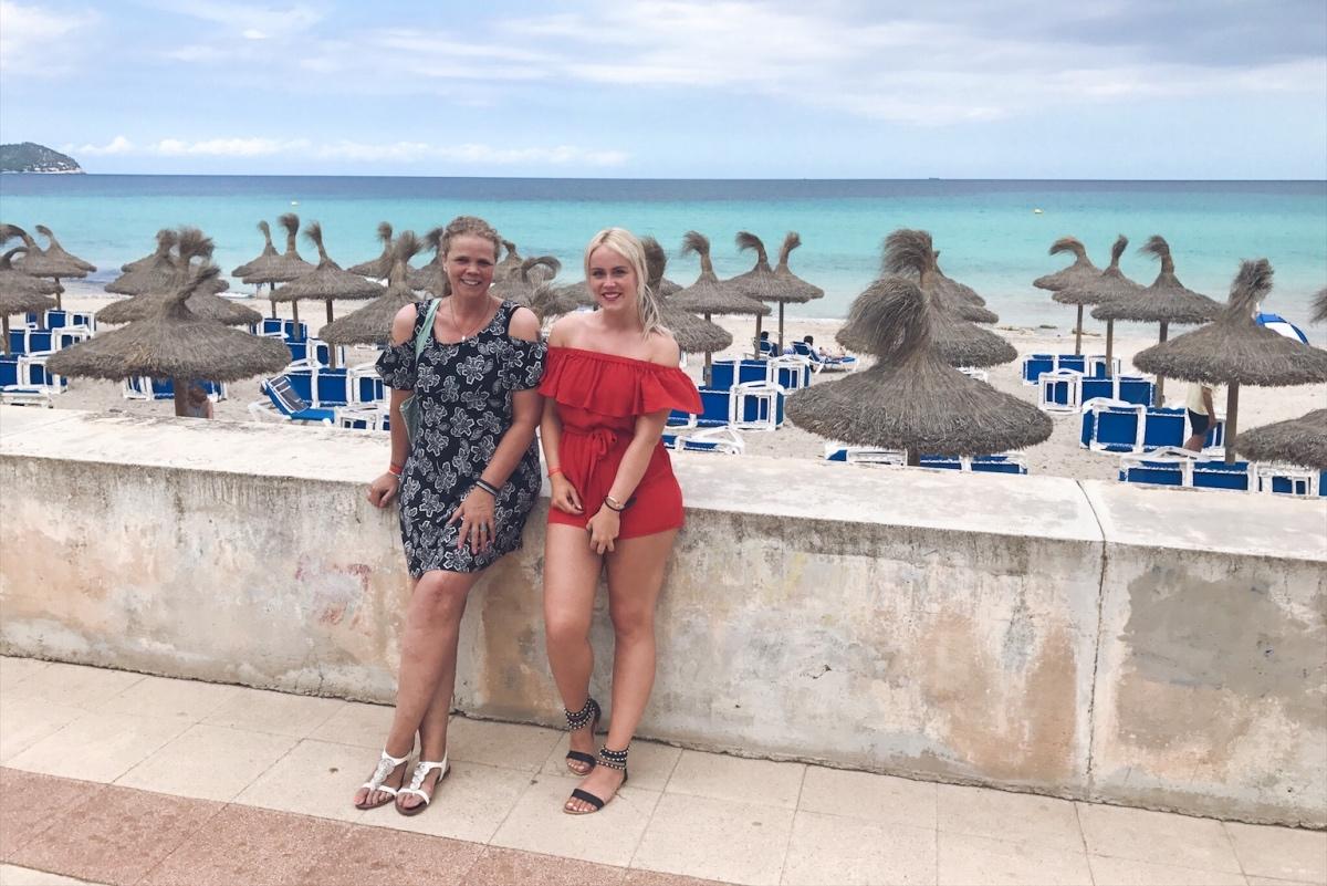Met mama in Mallorca 2017