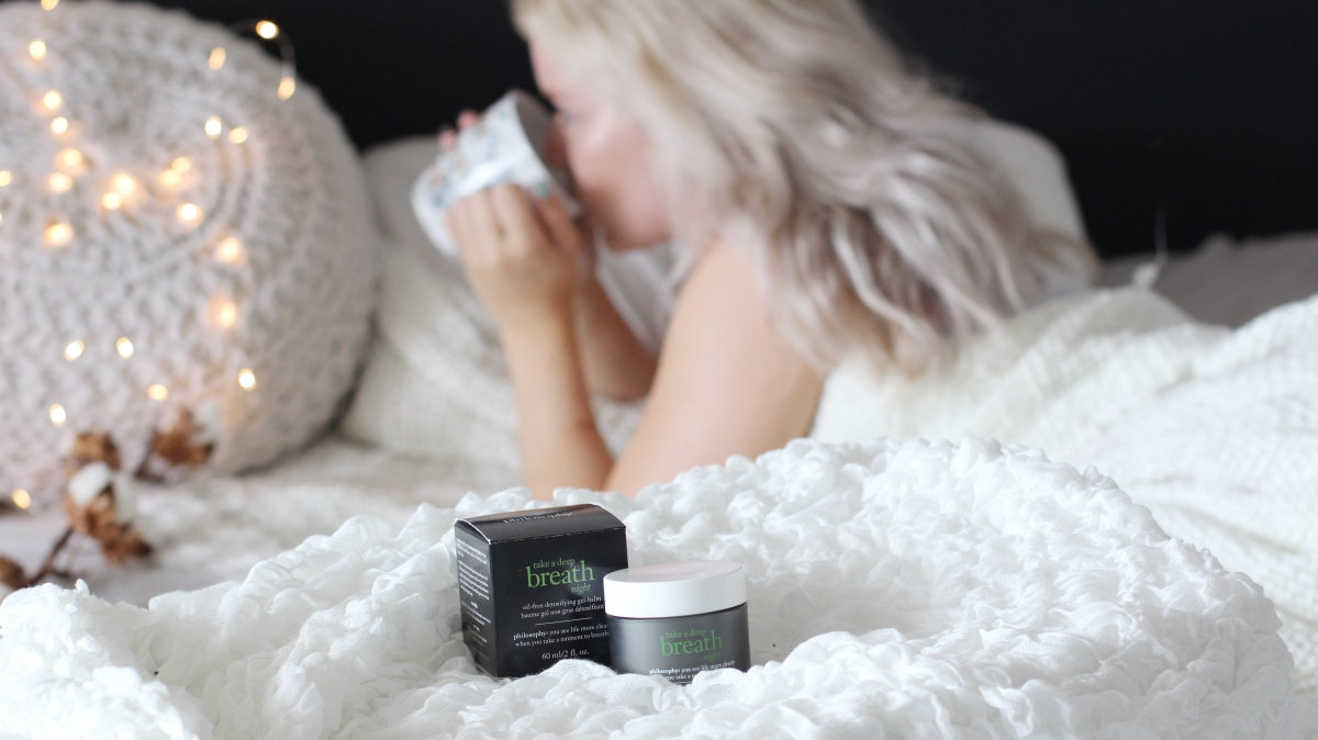 Philosophy take a deep breath night gel-balm