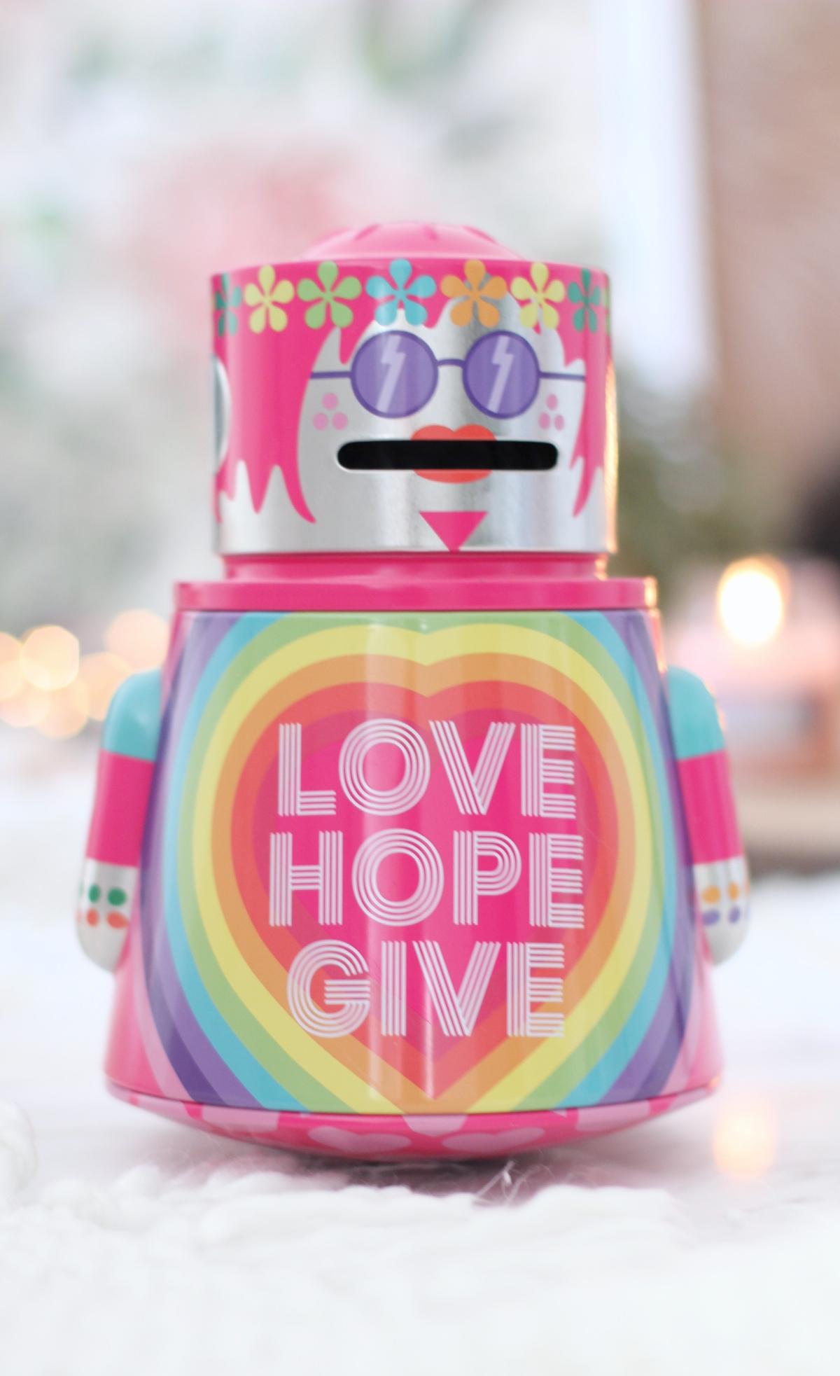 Een robot vol cadeautjes van The Body Shop