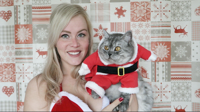 Kerstoutfits voor mijn katten. Ja, echt waar..